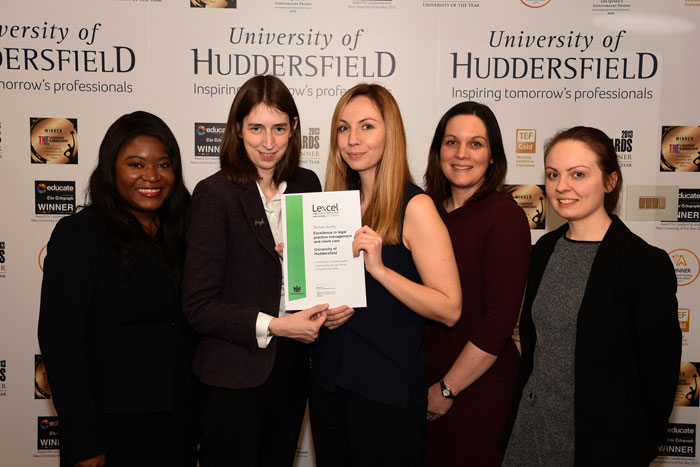 Solicitor presents award to Huddersfield University
