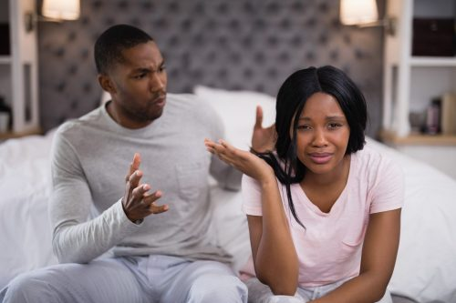Separation of cohabiting couple