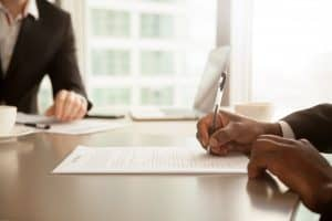 Business agreements for a divorce